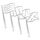 Flag hole Stock Images