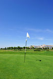 Flag in the hole, El Rompido Golf course, Andalusia, Spain Stock Photos