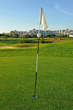 Flag in the hole, El Rompido Golf course, Andalusia, Spain Royalty Free Stock Image