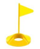 Flag hole plastic golf toy. Set isolated Royalty Free Stock Photo