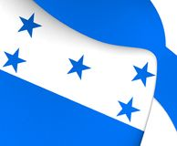 flag honduras royaltyfri illustrationer