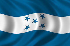 Flag of Honduras. Waving in the wind Stock Images