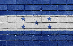 Flag of Honduras on brick wall Royalty Free Stock Image