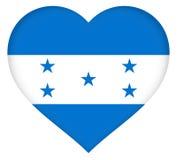Flag of Honduras Heart. Illustration of the national flag of Honduras shaped like a heart Stock Photography
