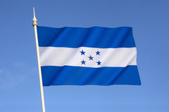 Flag of Honduras. In 1823 Honduras joined the United Provinces of Central America and adopted their flag. The current design was adopted on 7th March 1866 royalty free stock photos