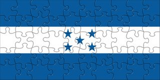 Flag of Honduras puzzle Royalty Free Stock Image