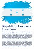 Flag of Honduras, Republic of Honduras. Template for award design, an official document with the flag of Honduras. stock illustration