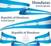 Flag of Honduras, Republic of Honduras. Template for award design, an official document with the flag of Honduras. stock illustration