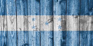Flag of Honduras on weathered wood Royalty Free Stock Photography