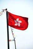 Flag of Hong Kong. The flag of Hong Kong (HKSAR Stock Photos