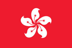 Flag of Hong Kong. Vector Illustration