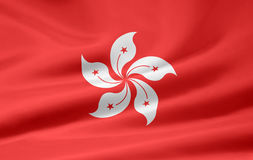 Flag of Hong Kong Royalty Free Stock Photography