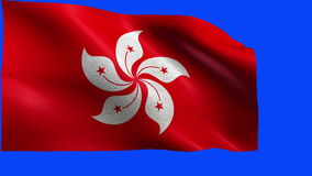 Flag of Hong Kong - LOOP Royalty Free Stock Photos