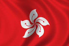 Flag of Hongkong royalty free illustration