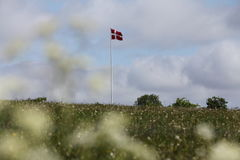 Flag. Hovering over centre of famous battle Royalty Free Stock Images