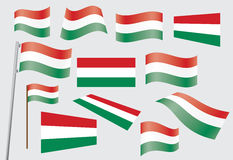 Flag of Hungary. Set of flags of Hungary vector illustration Royalty Free Stock Photography