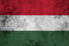 Flag of the Hungary close up Stock Photos