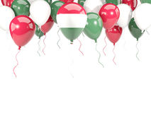Flag of hungary on balloons Royalty Free Stock Photo