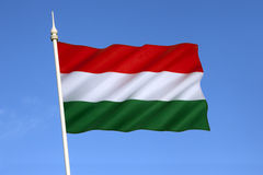 Flag of Hungary - Europe. The national flag of Hungary has been the official flag since October 1 1957 Stock Photos