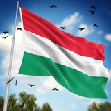 Flag of Hungary. This is a computer generated and 3d rendered image Stock Photography