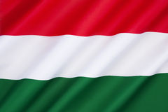 Flag of Hungary. This has been the official  since 1st October 1957. The flags form originates from national republican movements of the 18th - 19th century Stock Photography