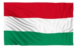 Flag of Hungary. Isolated on white Stock Photography