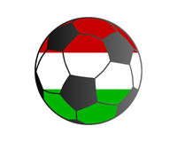 Flag of Hungary and soccer ball Royalty Free Stock Photography