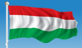 Flag of Hungary. Vector illustration Royalty Free Stock Photo