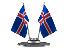 The flag Iceland Royalty Free Stock Image
