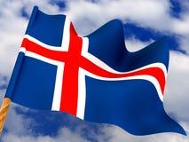 Flag. Iceland Stock Photo