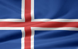 Flag of Iceland. Very large version of an icelandic flag Stock Images