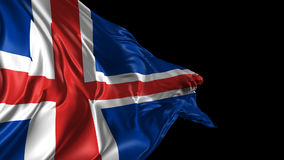 Flag of Iceland stock video