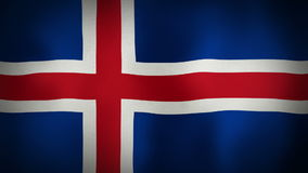 Flag Iceland stock video footage