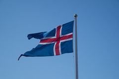 Flag of Iceland Stock Photo