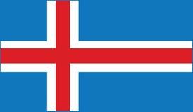 Flag of iceland  icon illustration Stock Image