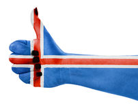 Flag of Iceland isolated Stock Photo