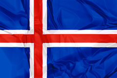 Flag of Iceland Royalty Free Stock Photography