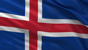 Flag of Iceland - seamless loop Stock Photos