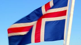 Flag of Iceland. Waving flag of the isolated Iceland stock video footage