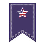 flag icon with american star Stock Photography