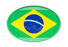 Flag icon. Brazil. 3d image Royalty Free Stock Photography