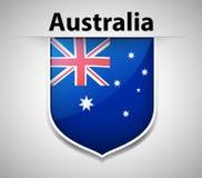 Flag icon design for Australia Royalty Free Stock Image