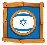 Flag icon design for Israel Royalty Free Stock Photos
