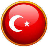 Flag icon design for Turkey Royalty Free Stock Images