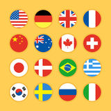 Flag icon flat design  illustration Stock Image