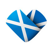 Flag icon in the form of heart. I love Scotland Royalty Free Stock Images