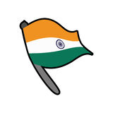 Flag icon. Indian Culture design. Vector graphic Royalty Free Stock Image