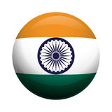 Flag icon. Indian Culture design. Vector graphic Stock Image