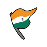 Flag icon. Indian Culture design. Vector graphic Royalty Free Stock Images
