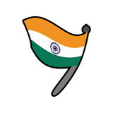 Flag icon. Indian Culture design. Vector graphic Stock Images